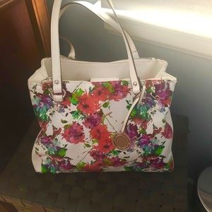 Nicole Miller Floral Handbag